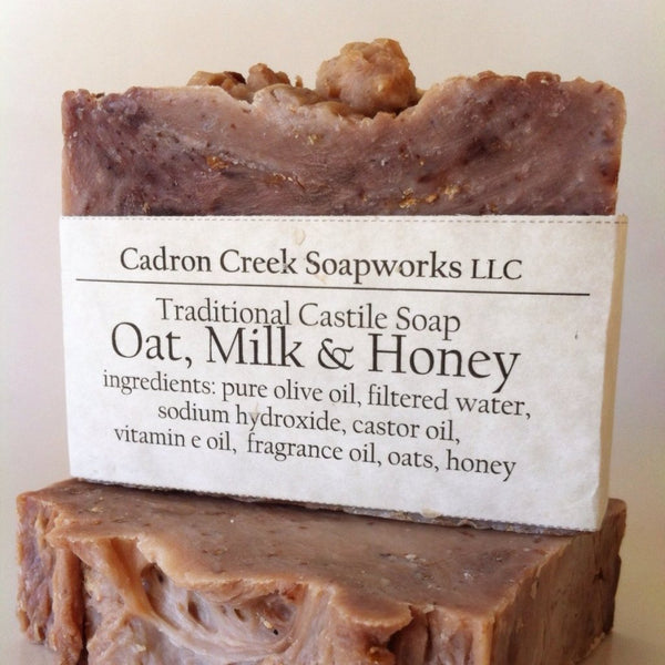 Traditional Castile Honey Oat & Milk Handmade Soap