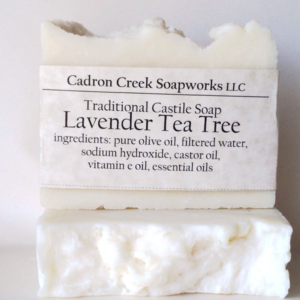 Traditional Castile Lavender Tea Tree Handmade Soap