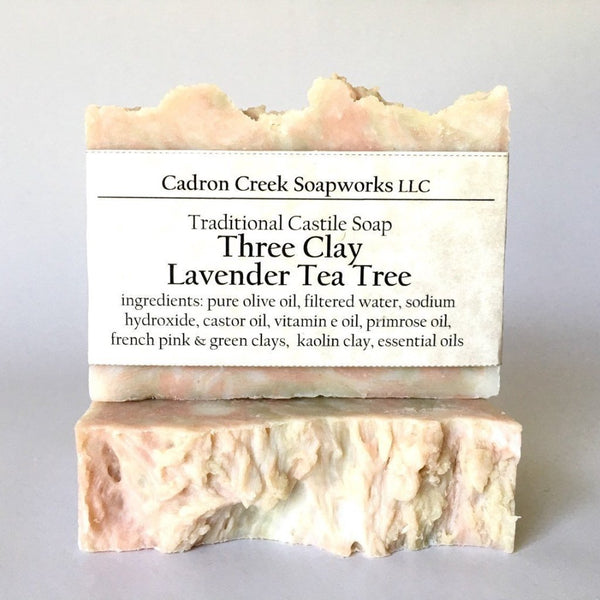 Three Clay Lavender Tea Tree Handmade Soap
