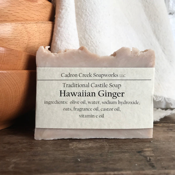 Traditional Castile Hawaiian Ginger Handmade Soap