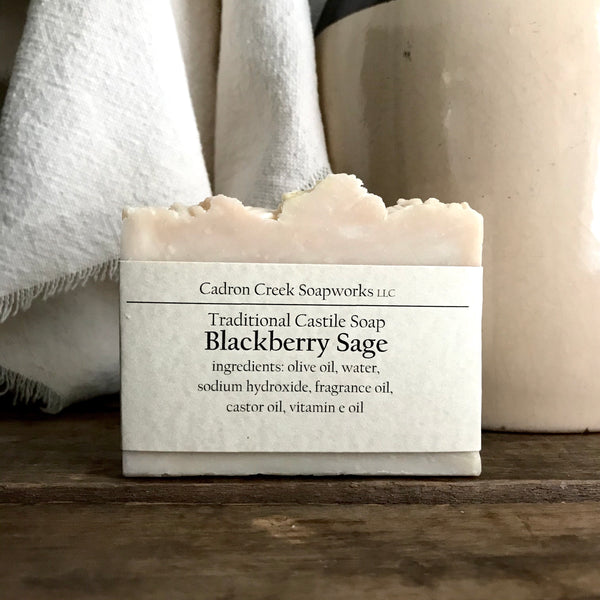 Traditional Castile Blackberry Sage Handmade Soap