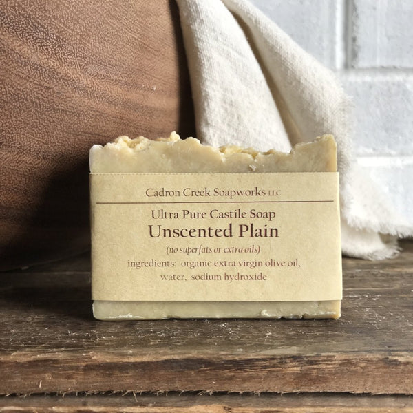 Ultra Pure Castile Plain Unscented Handmade Soap