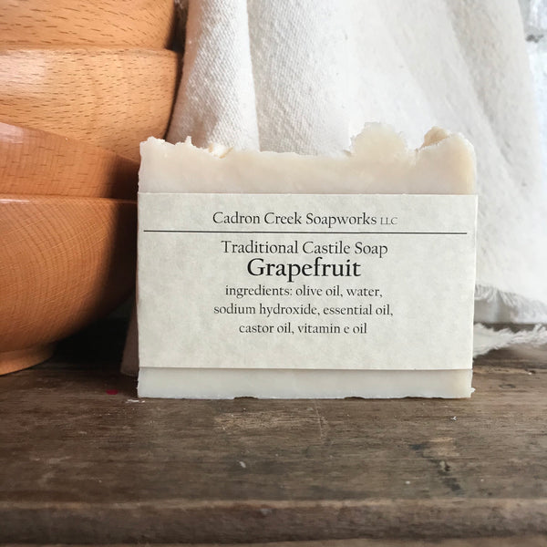 Traditional Castile Grapefruit Handmade Soap