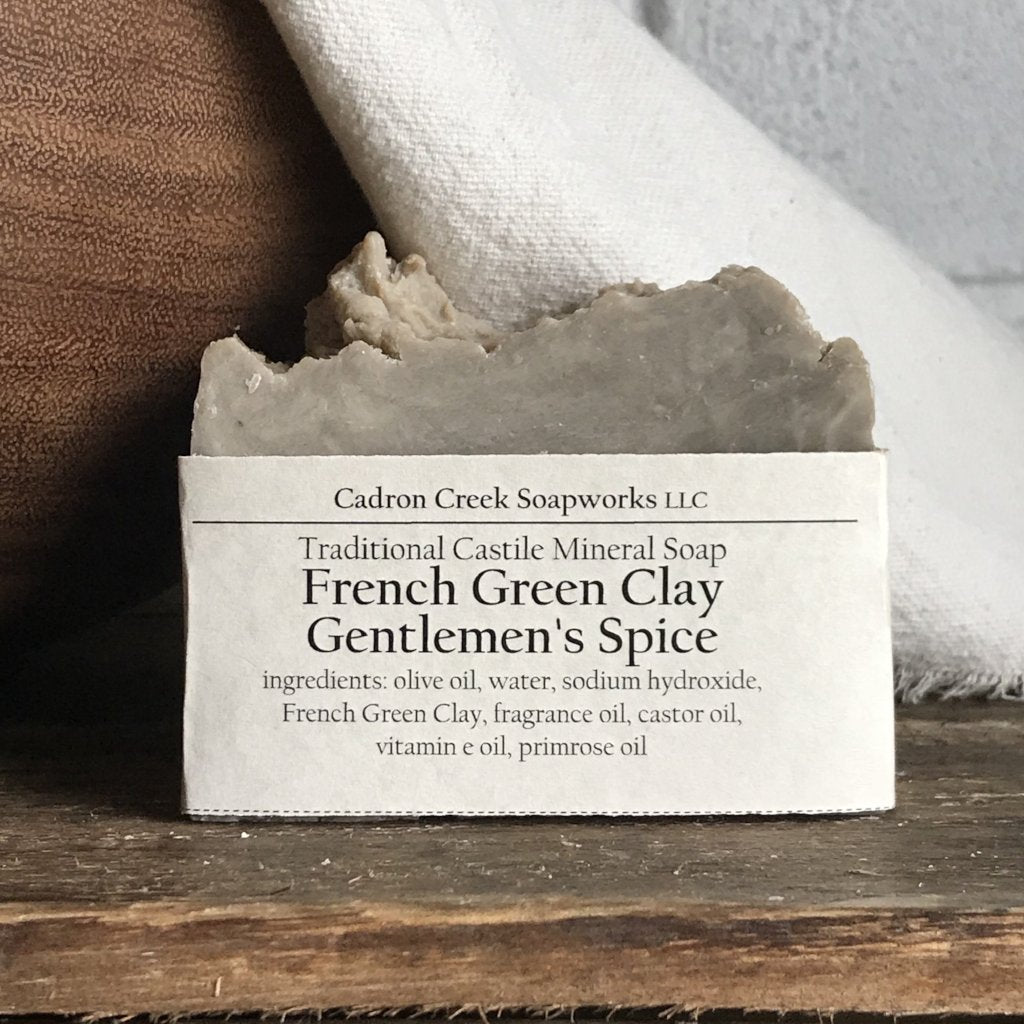 French Green Clay Gentlemen's Spice Castile Handmade Soap
