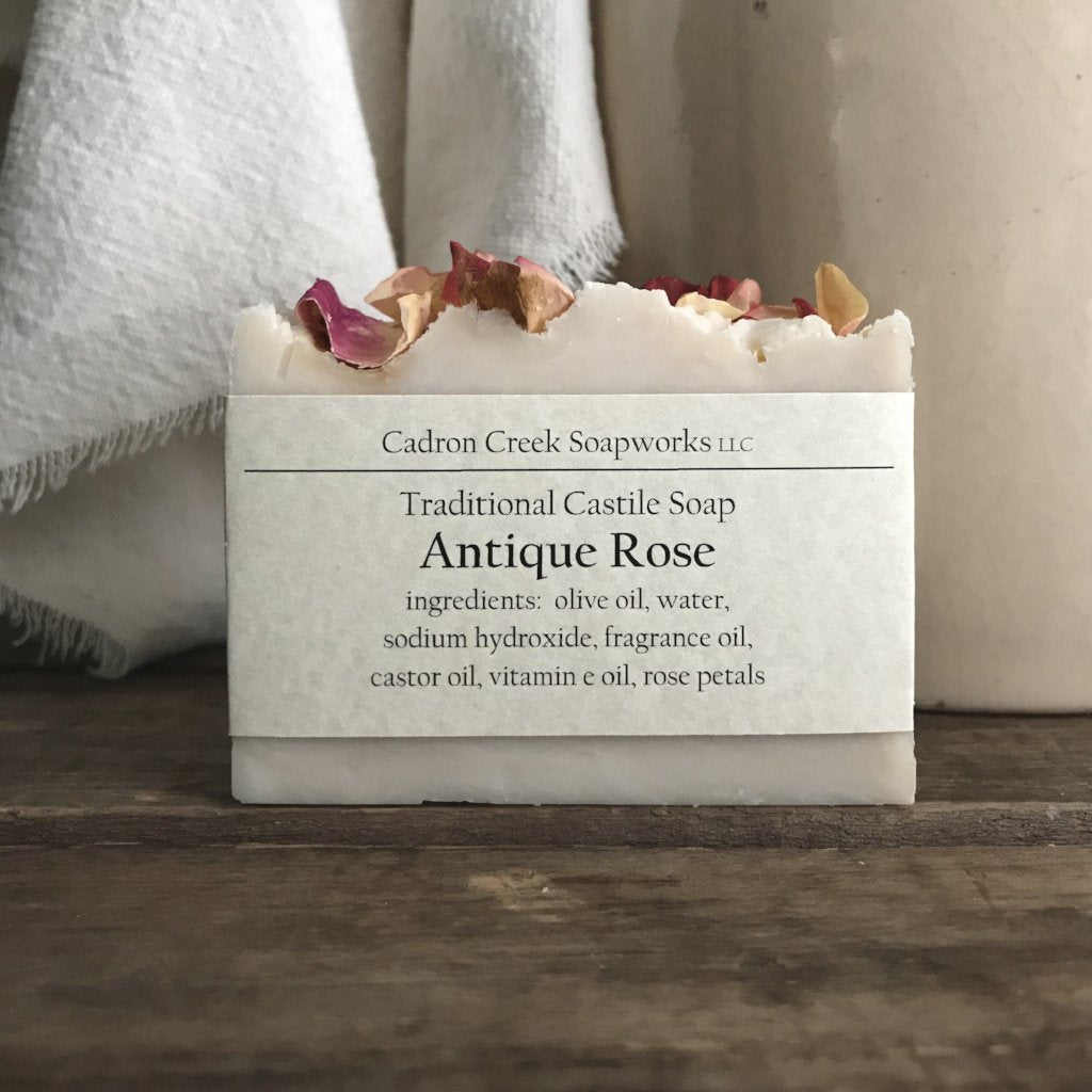 Traditional Castile Antique Rose Handmade Soap