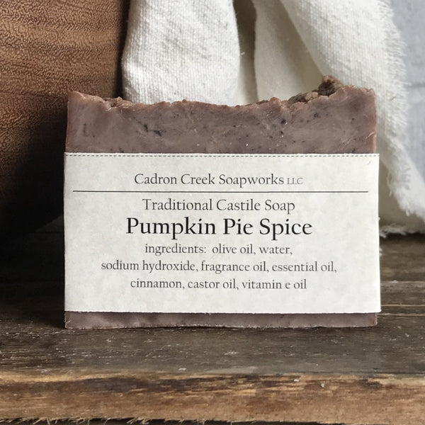 Traditional Castile Pumpkin Pie Handmade Spice