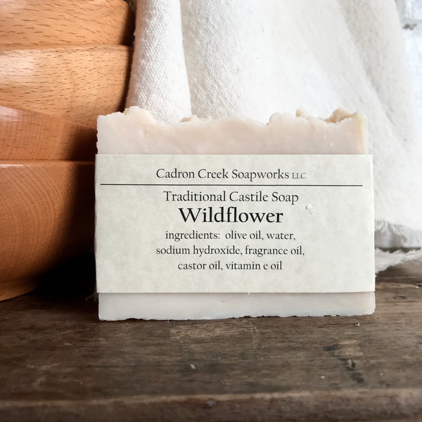 Traditional Castile Wildflower Handmade Soap