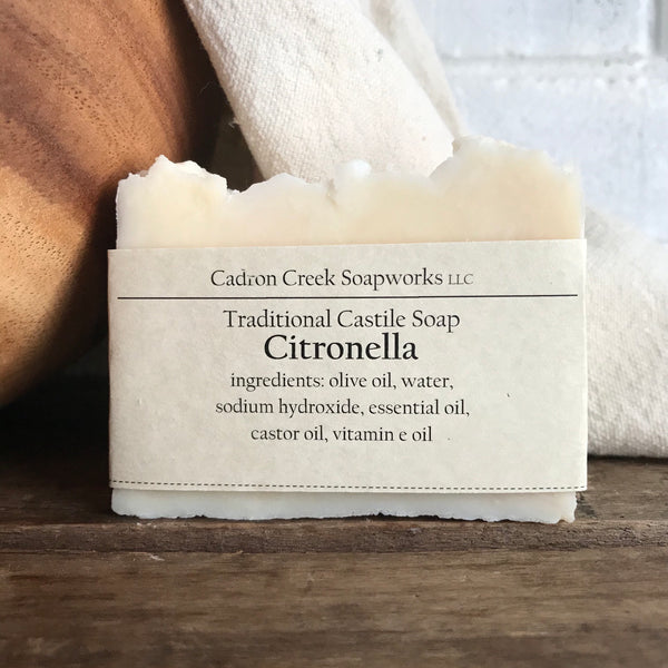 Traditional Castile Citronella Handmade Soap