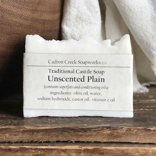 Traditional Castile Unscented Plain Handmade Soap