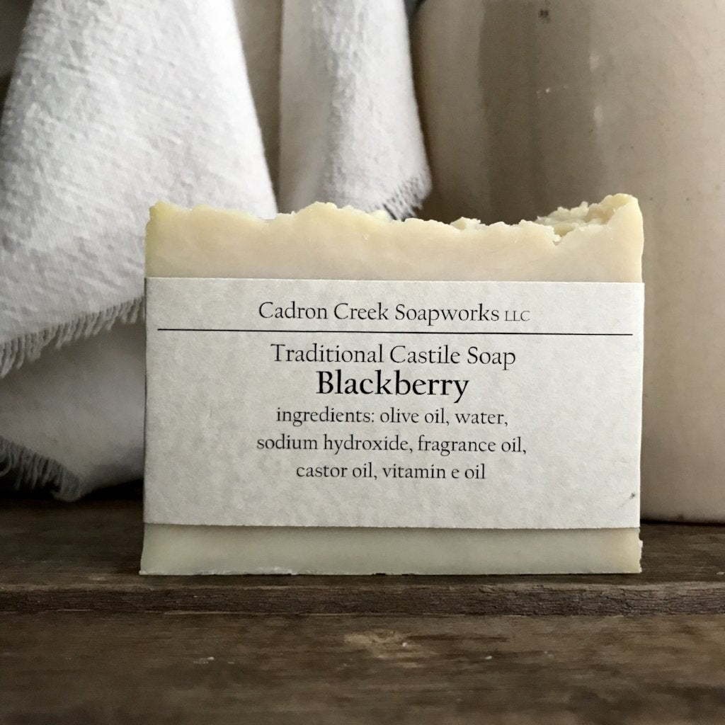 Traditional Castile Blackberry Handmade Soap