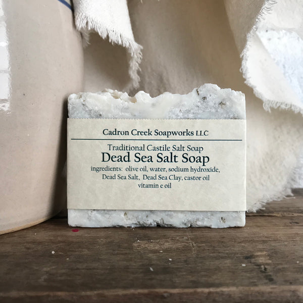 Salt Soap, Unscented Dead Sea Salt Handmade Soap