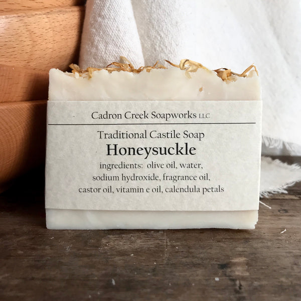 Traditional Castile Honeysuckle Handmade Soap