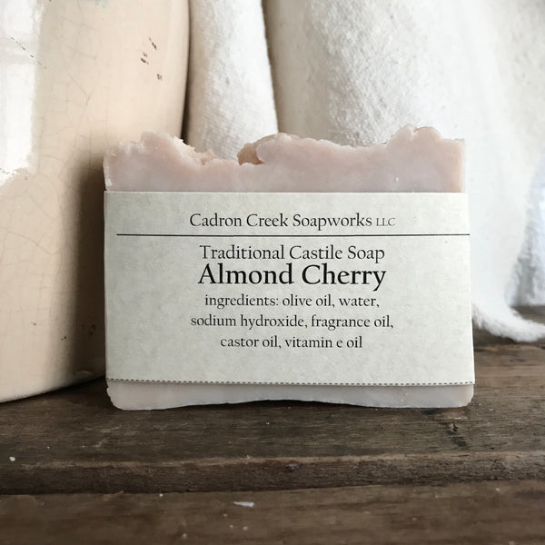 Traditional Castile Almond Cherry Handmade Soap