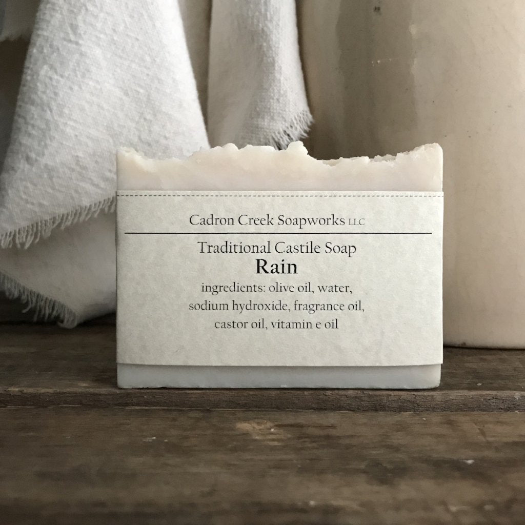 Traditional Castile Rain Scented Handmade Soap