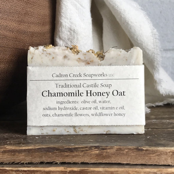 Traditional Castile Chamomile Honey Oat Handmade Soap