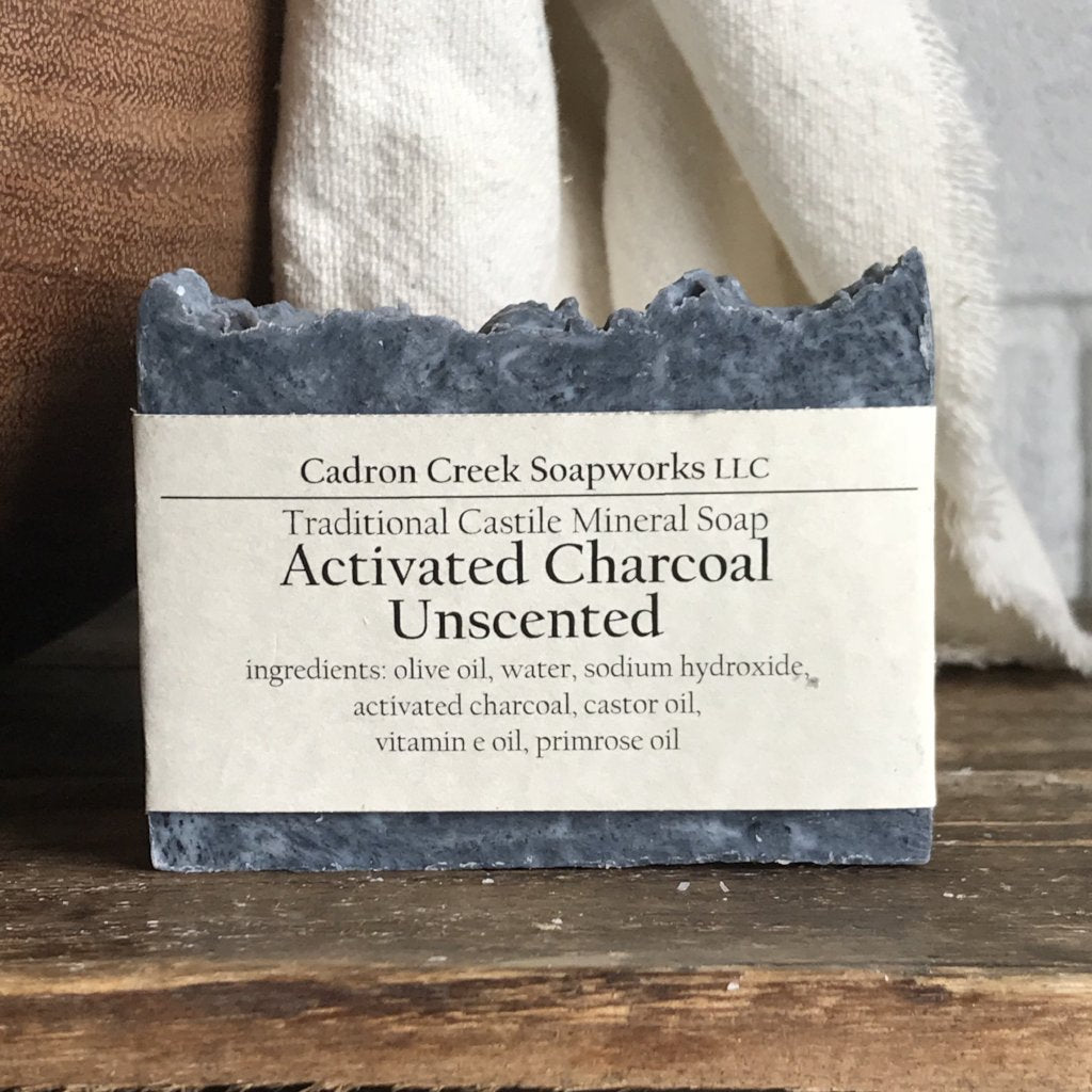 Charcoal Unscented Castile Handmade Soap