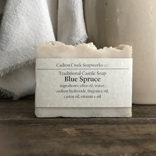 Traditional Castile Blue Spruce Scented Handmade Soap