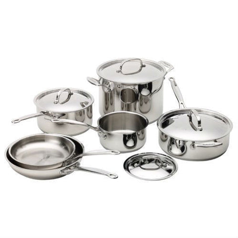 10-Piece Stainless Steel Cookware Set-Kitchen > Cookware Sets-Loluxe