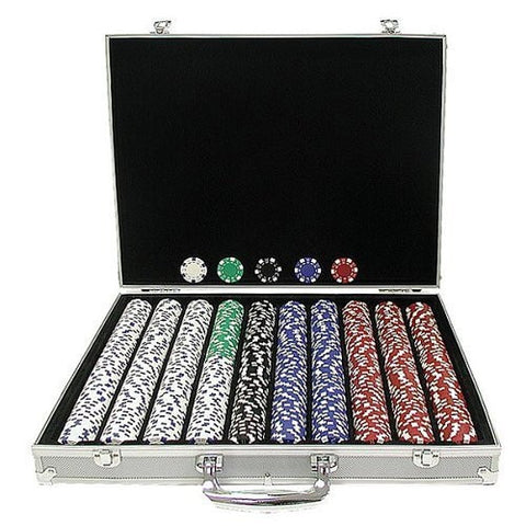 1000 Chip Poker Set with Aluminum Case-Game Room > Poker Tables-Loluxe