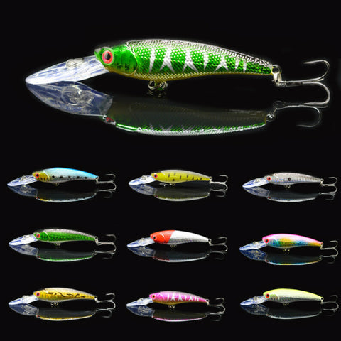 10pcs crank fishing lure minnow deep dive-Loluxe