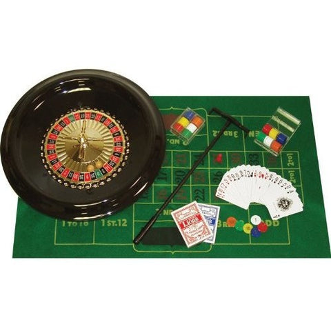16-inch Deluxe Roulette Set with Accessories-Game Room > Roulette-Loluxe