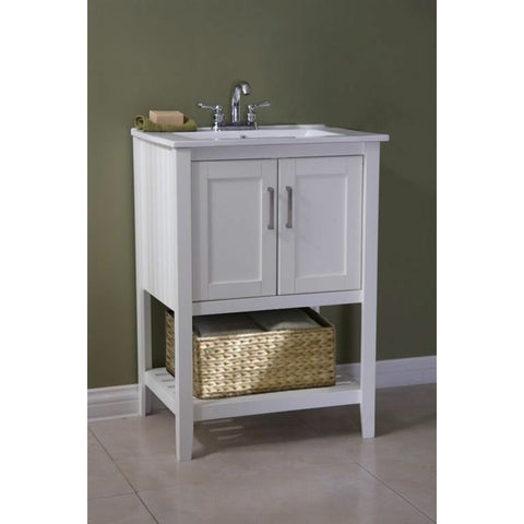 23-inch Bathroom Vanity Set with White Porcelain Top-Bathroom > Bathroom Vanities-Loluxe