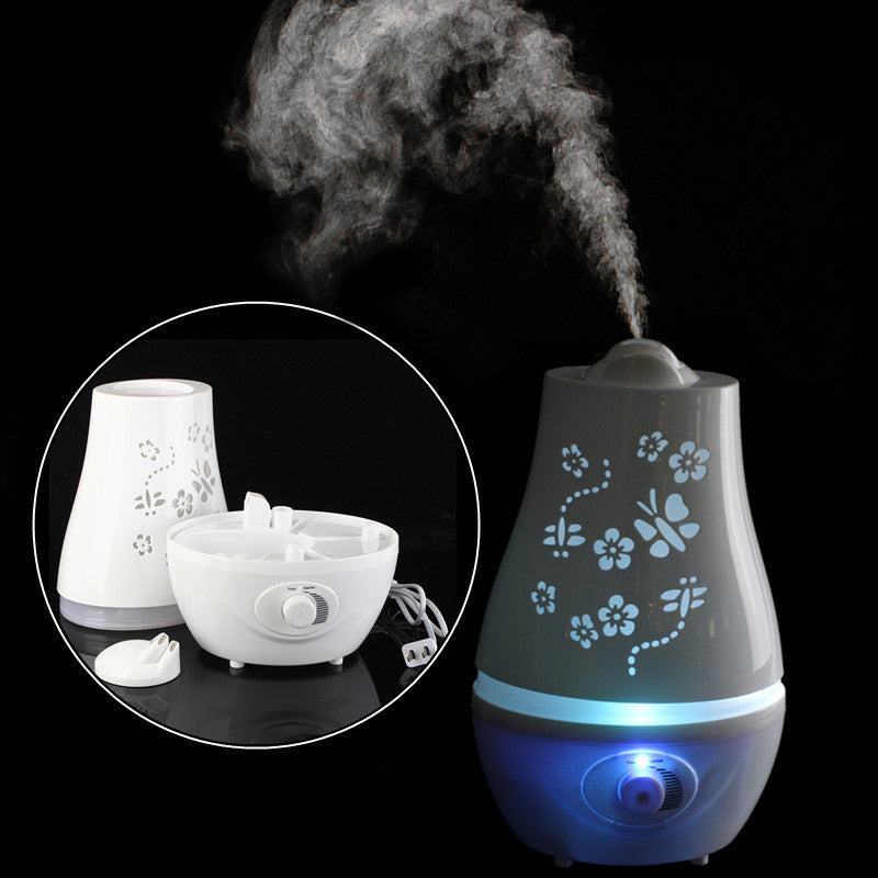 2.4L Ultrasonic Home Aroma Humidifier Mist Essential Oil LED Nightlight Air Diffuser Purifier Lonizer Atomizer-Loluxe