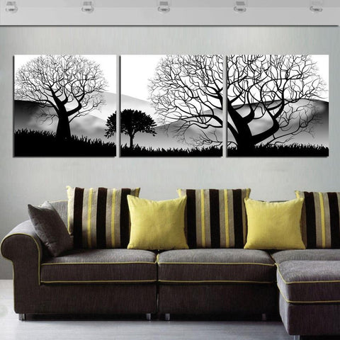 3 Panels Modern Living Room Wall Hanging Art No Frame-Loluxe