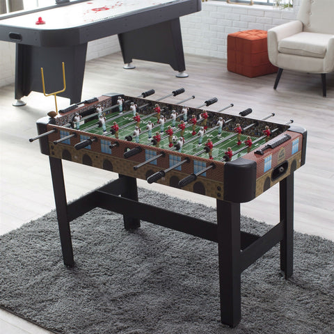 4-Ft Foosball Table with Detailed Football Stadium Graphics-Game Room > Foosball Tables-Loluxe