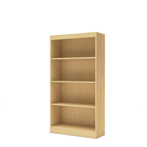 4-Shelf Bookcase in Natural Maple Finish-Living Room > Bookcases-Loluxe