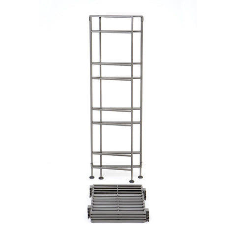 4-Shelf Iron Tower Storage Shelves - Great for Kitchen Office Garage-Accents > Shelving Units-Loluxe