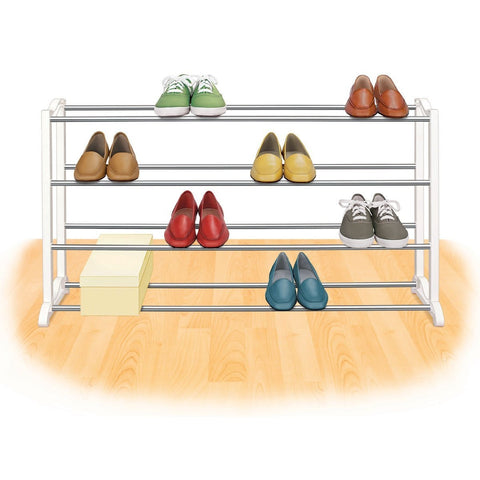 4-Tier Shoe Rack - Holds up to 20 Pair of Shoes-Accents > Shoe Racks-Loluxe