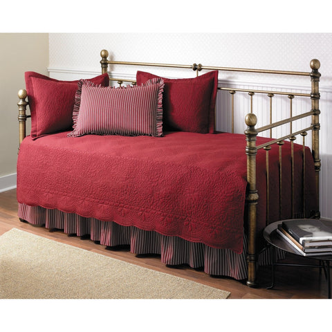 5-Piece Daybed Comforter and Bedding Set in Scarlet Red-Bedroom > Comforters and Sets-Loluxe