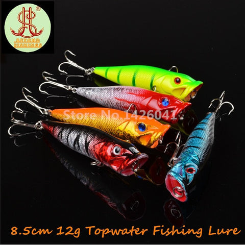 5pcs Topwater Popper Fishing lure artificial bait-Loluxe