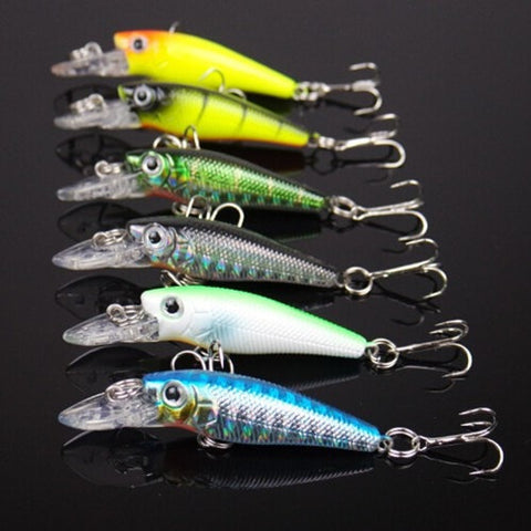 6pcs 2.5G 3CM Artificial bait topwater lure-Loluxe