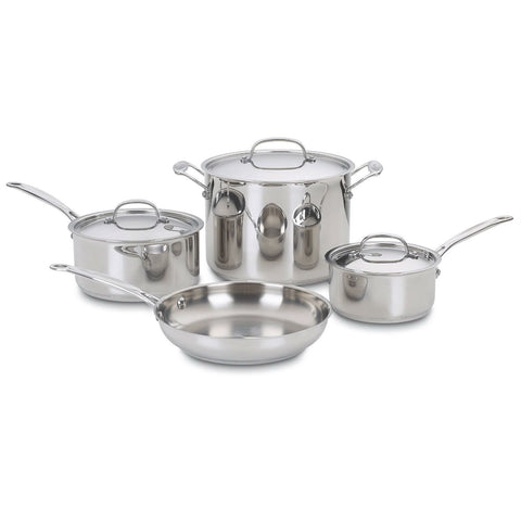 7-Piece Oven Safe Stainless Steel Cookware Set-Kitchen > Cookware Sets-Loluxe
