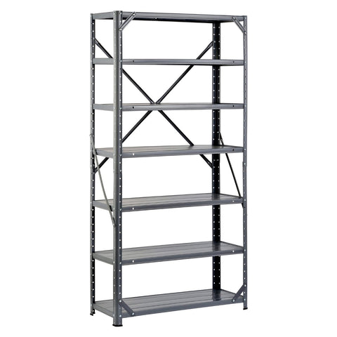 7-Shelf Steel Metal Storage System - 750 lb Capacity-Accents > Shelving Units-Loluxe
