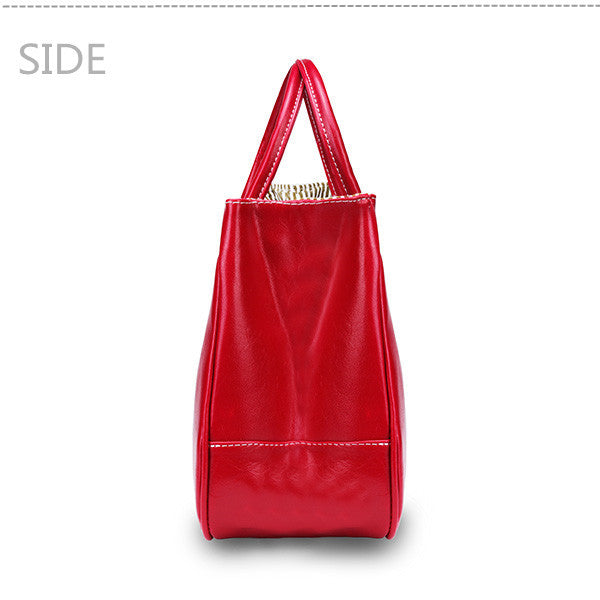 Women's Leisure PU Leather Big Tote Shoulder Bag 8 Colors