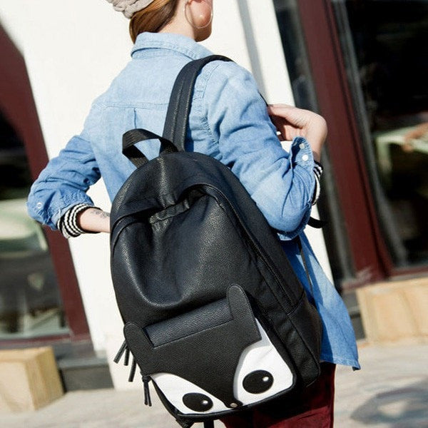 Cute Black Fox Girl's Backpack