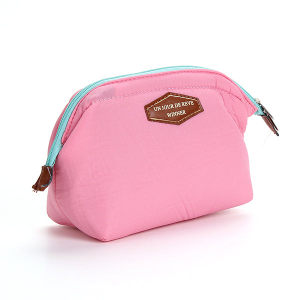 Small Quality Cosmetic Travel Zipper Bag 4 Colors