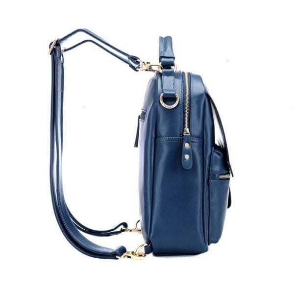 Girl's PU Leather Multipocketed Backpack 2 Colors