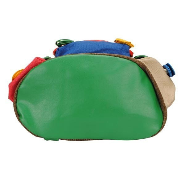Bright Colorful Canvas Multipocketed Backpack