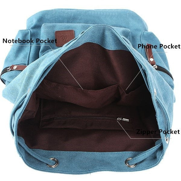 Unisex Leisure Canvas Backpack 4 Colors