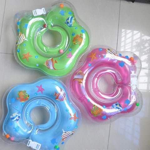 Adjustable Inflatable Fish Print Double Protected Children's Swimming Pool Ring 3 Colors-Loluxe