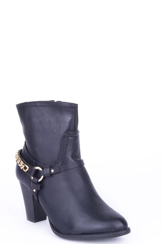 Ankle Boots with Stirrup Detail-Footwear > Boots-Loluxe