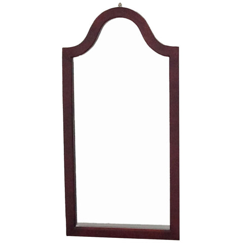Arc Top Vanity Accent Wall Mirror in Cherry Wood Finish-Accents > Mirrors-Loluxe