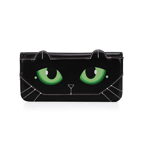 Awesome Lovely Cat Leather Long Wallet-coin purse wallet clutch-Loluxe