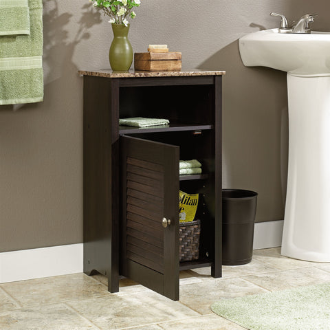 Bathroom Floor Cabinet with Shelf and Faux Granite Top-Bathroom > Bathroom Cabinets-Loluxe