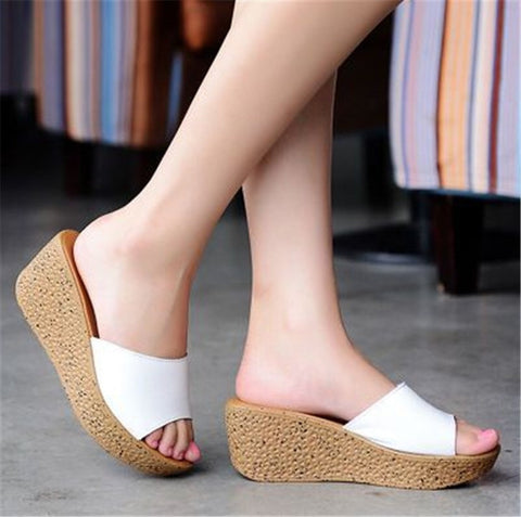 Beach Wedge-Heel Quality Women's Fashion Sandals 5 Colors-Loluxe