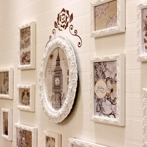 Beautiful Shabby Chic Wood Photo Collage Wall Frames Collection 13 or 16 PC/Set-Loluxe